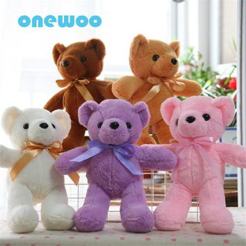 Colorful Ty Baby Beanies Teddy Bear Ty Stuffe Doll Software Sweet Plush Animal Toy Little Bear Appease Baby Doll Friends Present