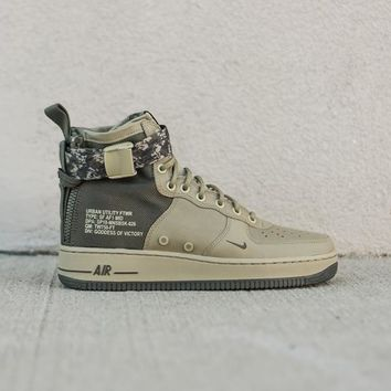 NIKE - Men - SF Air Force 1 Mid - Olive/Khaki Camo