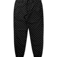 Black Kiles Polka Star Jogger Pants
