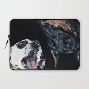 Contrasting Dogs Laptop Sleeve by Yuval Ozery