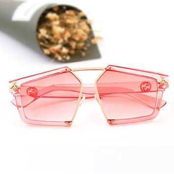 GUCCI Fashion Women Cute Bee Summer Sun Shades Eyeglasses Glasses Sunglasses Pink I12884-1