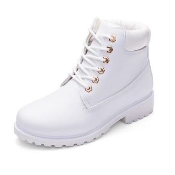 Fashion trending boots for women shoes waterproof Martin boots White G