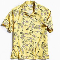 UO Banana Short Sleeve Button-Down Shirt | Urban Outfitters