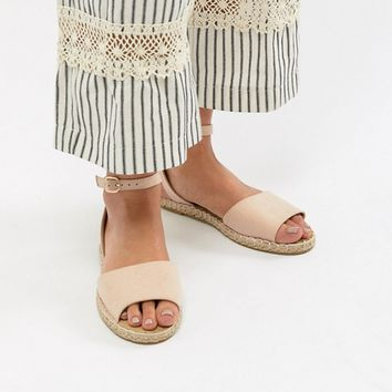Truffle Collection Wide Fit Espadrille Flat Sandals at asos.com