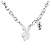 Playboy Bunny Centered Charm Necklace | Body Candy Body Jewelry