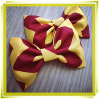 USC Trojans Inspired chevron Print handmade fabric bow tie or hair bow