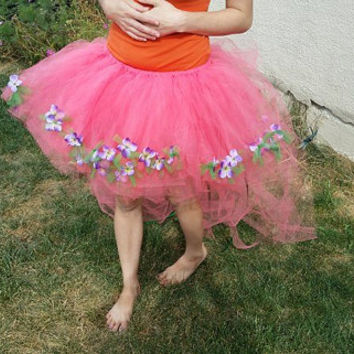 Garden Fairy Tutu, Plus Size Tutu, Adult tutu, Adult fairy costume, Formal Tutu, Hi Low Skirt