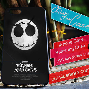 Exclusive Nightmare Before Christmas iPhone for 4 5 5c 6 Plus Case, Samsung Galaxy for S3 S4 S5 Note 3 4 Case, iPod for 4 5 Case, HtC One M7 M8