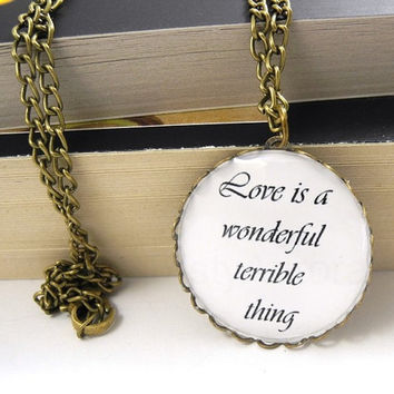 William Shakespeare Quote Pendant Love is a by MistyAurora on Etsy