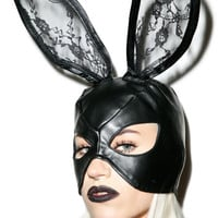Bondage Bunny Mask BLACK One
