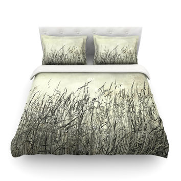 "Iris Lehnhardt ""Summer Grasses"" Neutral Gray Featherweight Duvet Cover"