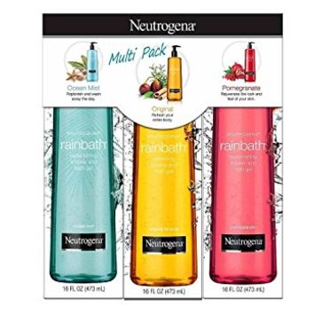 Neutrogena Rainbath Multi-Pack of 3, 1 Original Formula, 1 Pomegranate and 1 Ocean Mist, 16 fl oz bottles