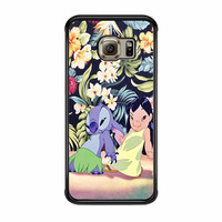 Lilo And Stitch Dancing Floral Samsung Galaxy S6 Edge Case