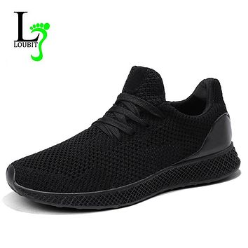 Men Sneakers 2019 Breathable Mesh Shoes High Quality Lace up Men Casual Shoes Fashion Sneakers