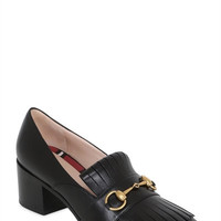 LUISAVIAROMA.COM - GUCCI - 55MM POLLY FRINGED LEATHER PUMPS