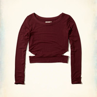 Girls Cutout Crop Top | Girls Tops | HollisterCo.com
