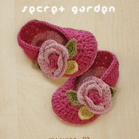 Secret Garden Ballerina Crochet PATTERN, Instant PDF Download - Chart & Written Pattern