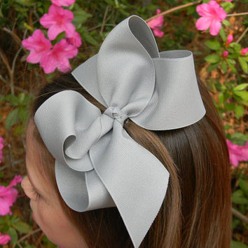Extra Large Boutique Hair Bow Big Girls Bow Jumbo Huge You choose color Children Baby Toddler Wedding Birthday Holiday Pageant