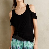 Shanti Open-Shoulder Top by Beyond Yoga Black