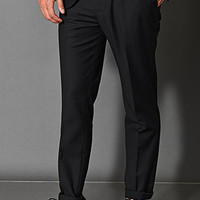 Classic Woven Dress Pants Black
