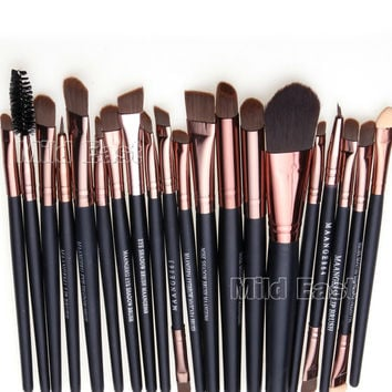 20pcs Makeup Brushes SET KIT Eyeshadow Eyebrow LIP Foundation Powder Tool Brush