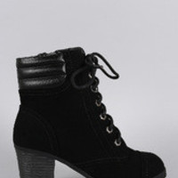 Women's Bamboo Lace Up Work Bootie