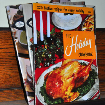 "Vintage Recipe Booklet. ""The Holiday Cookbook: 220 Festive Recipes for Every Holiday"" #124 by Culinary Arts Institute. 1950s"
