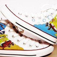 SpongeBob SquarePants Hand-painted shoes SpongeBob Shoes