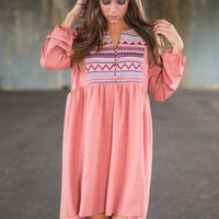 You Make Me Smile Dress, Blush