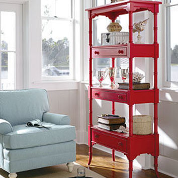 Coastal living etagere in choice of color from for Dining room etagere
