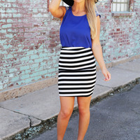 Seeing Double High Waisted Skirt