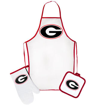 Georgia Bulldogs - Logo Barbeque Tailgate Set