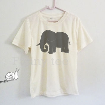 Cute elephant art shirt kids toddlers boys girls clothing **short sleeve shirt **crewneck **off white t shirts size S M L XL