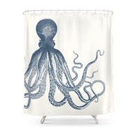Society6 Offset Octopus Shower Curtains