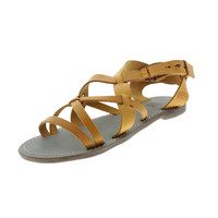 Diesel Womens Paradise Island Cuckoo Leather Flats Strappy Sandals