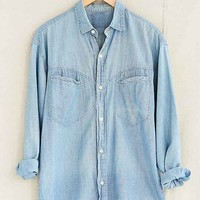 Vintage Faded Denim Chambray Shirt- Assorted One