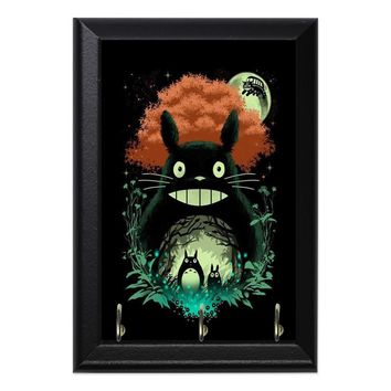 Totoro Catbus Night Sky Anime Geeky Wall Plaque Key Holder Hanger