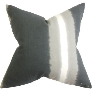 Djuna Stripe 18-inch Feather and Down Filled Decorative Throw Pillow