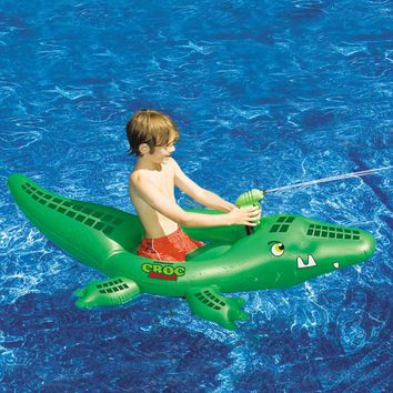 Croc Attack Inflatable Pool Ride-On
