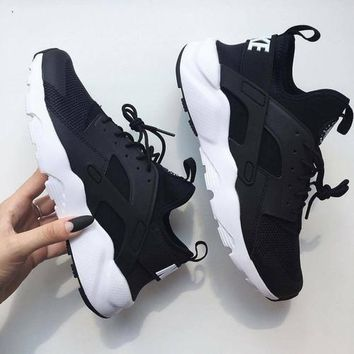 2018 Original NIKEAIR Huarache Running Sport Casual Shoes Sneakers Black