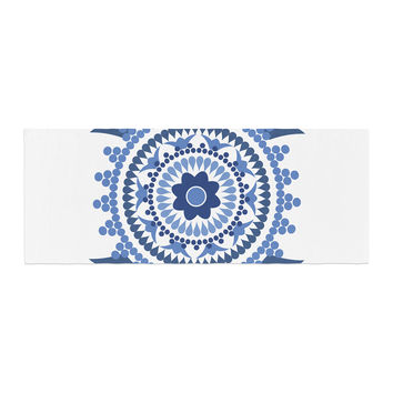 "Carolyn Greifeld ""Bohemian Blues"" Blue White Bed Runner"