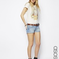 ASOS TALL Easy Denim Short In Pretty Wash
