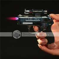 Pistol Style Butane Lighter with Working Laser Sight - DinoDirect.com