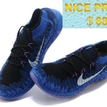Sneaker paint WMNS Nike Free 30 Flyknit Black Purple Silver Game Royal sneaker