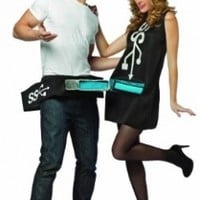 Rasta Imposta Usb Port and Stick Couples Costume, Black/Blue, One Size