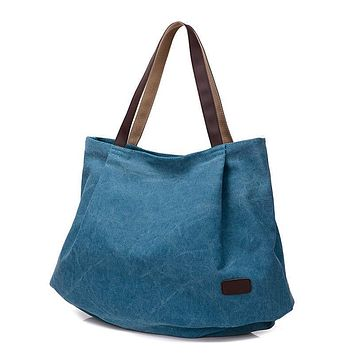 Women Canvas Large Capacity Handbag Shoulder Bag Tote Bag