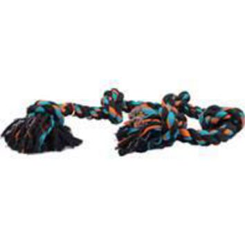 Mammoth Pet Products - Flossy Chews Color 5 Knot Rope Tug Dog Toy