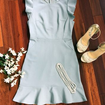 Believe in Love Dress, Light Slate