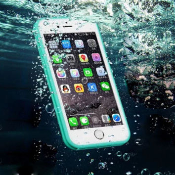 Waterproof Dustproof  Beach Holiday Case Cover for Apple iPhone 5s 5 SE 6 6S 6 Plus 6S Plus DC080701