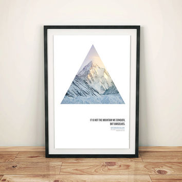Minimalist poster design, Wanderlust poster, wanderlust quote, triangle artwork